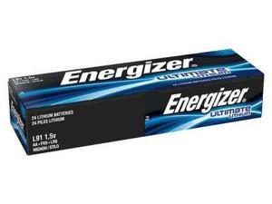 ENERGIZER L91 Battery, AA, Primary Lithium, PK 24