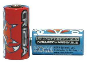 FOXFURY 70-123-2 Lithium Batteries, For FoxFury, PK 2