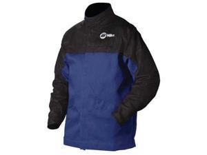 MILLER ELECTRIC 231 083 Combo Weld Jkt, Royal/Blk, Ctn/Leather, XL