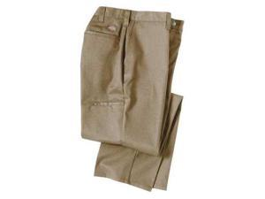 DICKIES 2112272DS-36x30 Industrial Work Pants, Twill, Khaki, 36x30