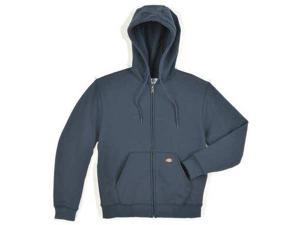DICKIES TW391DN 3X RG Hooded Sweatshirt, Zip Front, Dk Navy, 3XL
