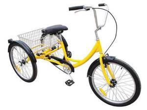 33X825 Industrial Tricycle, 24 In, Rear Basket