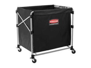 RUBBERMAID 1881750 Collapsible Basket X-Cart, 8 bu. Cap.