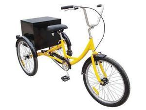 33X833 Industrial Tricycle, 24 In, Rear Cabinet