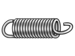 1NAR1 Ext Spring, Cot, Steel, 2 OAL, 3/4 OD, PK 6