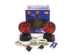 GROTE 65720-5 Towing Kit,Magnetic Base,LED,12 Volt
