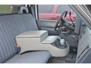 CAROLINA CONSOLES 380-01205 Truck Seat Console, Gry, 10-1/2x11-3/4x25