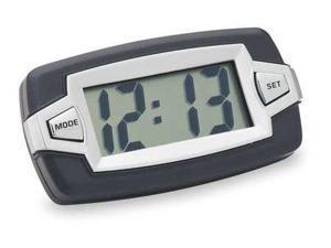 BELL 37007-8 Jumbo LCD Clock,Indicator,Black/Silver