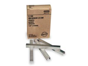 BOSTITCH SB1030205/82.5 Carton Staples,Stick,1/2x5/8 L,PK2490
