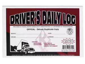 JJ KELLER 601-LD Detailed Drivers Logbook, w/Carbon