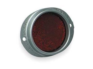 Grote 40192 Reflector, Armored, Red, Dia 3 5/8 In