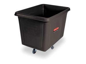 RUBBERMAID FG460800BLA Black Cube Truck, 8 Cu. Ft., 300 Lb. Load