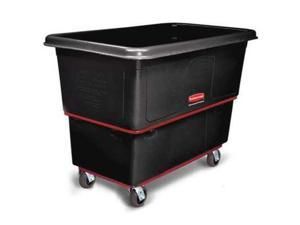 RUBBERMAID FG471600BLA Black Truck, 16 Cu. Ft., 1000 Lb. Load