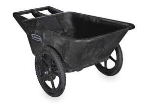RUBBERMAID FG564200BLA Big Wheel Cart,HD,1/4 cu. yd.,300 lb.