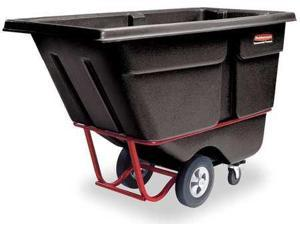 RUBBERMAID FG131600BLA Tilt Truck,Heavy-Duty,1 cu. yd.,2100 lb.