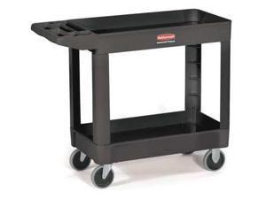 RUBBERMAID FG450089BLA Utility Cart, 500 lb. Load Cap.