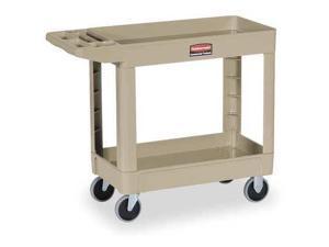 RUBBERMAID FG450089BEIG Utility Cart, 500 lb. Load Cap.