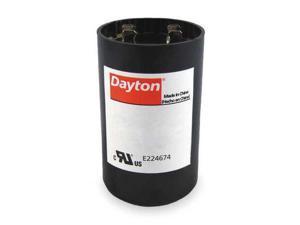 DAYTON 2MEU6 Motor Start Capacitor, 430-516 MFD, Round