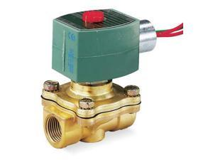 RED HAT 8210G095 Solenoid Valve, 2/2, 3/4 In, NC, 120V, Brass