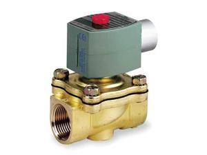 RED HAT 8210G009 Solenoid Valve, 2/2, 3/4 In, NC, 120V, Brass