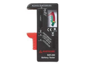 AMPROBE BAT200/WWG Battery Tester, 9V, AA, AAA, C and D Cell