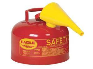 EAGLE UI-25FS Type I Safety Can, 2-1/2 gal, Red