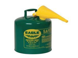 "EAGLE UI-50FSG Type I Safety Can, 5 gal., Green, 13-1/2"" H"