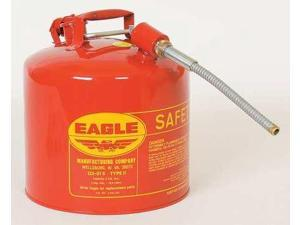 EAGLE U251SX5 Gas Can, 5 gal., Red, Galvanized Steel
