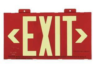 "Exit Sign, Value Brand, 9RXP4, 7-1/2""Hx13""W"