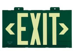 JESSUP MANUFACTURING 7021 Exit Sign, 8 x 15In, R, Metal, Exit