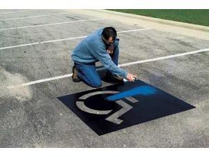 CH HANSON 12460 Parking Lot Stencil Kit,Plastic