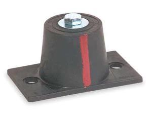 MASON 4C989 Floor Mount Vibration Isolator, Neoprene