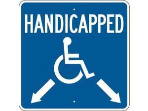 """Handicap Parking Sign, Brady, 123875, 18""""Hx18""""W"""