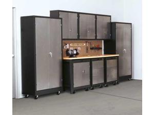 EDSAL CB721836 Storage Cabinet, Black/Silver, 72 In. H