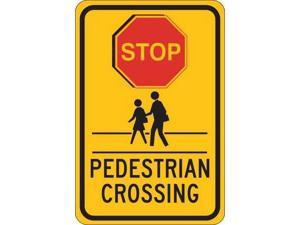 "Traffic Sign, Brady, 124395, 18""Hx12""W"