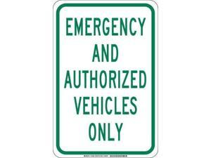 BRADY 129582 Traffic Sign, 18 x 12In, Green/White