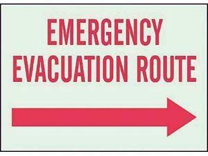 """Emergency Exit Sign, Brady, 90622, 10""""Hx14""""W"""