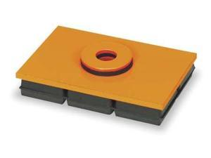 MASON 2LVR3 Vibration Iso Pad, 10x12x3/4 In, w/Hole