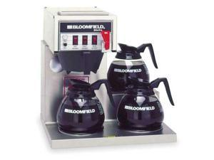 Low Profile Coffee Brewer with Inline Plumbing, Bloomfield, 4A-8572D3F-120V