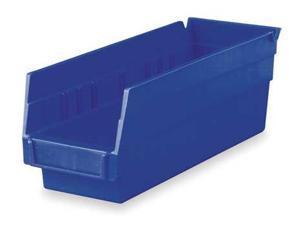 Blue Shelf Bin, 10 lb Capacity, 30120BLUE, Akro-Mils