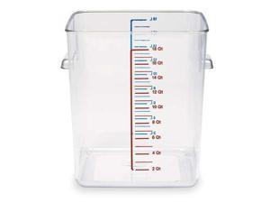 RUBBERMAID FG631800CLR Square Storage Container, 18 Qt, Clear