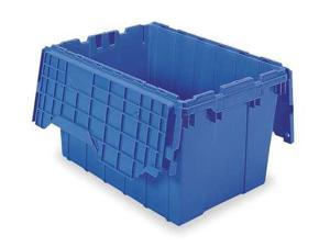 Blue Attached Lid Container, 12 gal Capacity, 39120BLUE, Akro-Mils