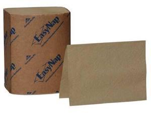"""Georgia Pacific Professional EasyNap Embossed Dispenser Napkins One-Ply, 6 1/2"""" x 9 7/8"""", Brown, 6000/Carton"""