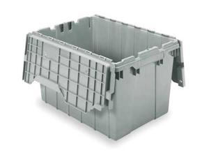 Gray Attached Lid Container, 391204W024, Akro-Mils