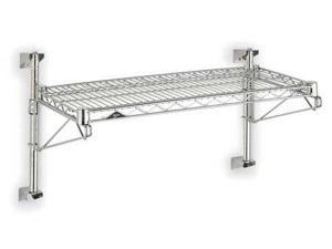 Wall Mounted Wire Shelving, Chrome ,Metro, SW31C-1-1836