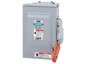Siemens 60 Amp 600VAC/DC Solar Safety Disconnect Switch 3P, HNF362RPV