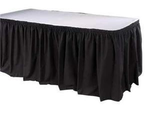 17-1/2 ft. Table Skirt, Black ,Phoenix, TSKT-17-BK