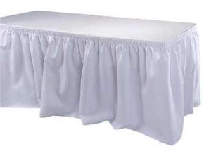 17-1/2 ft. Table Skirt, White ,Phoenix, TSKT-17-WH