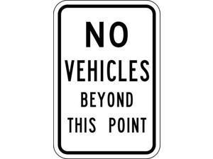 BRADY 80095 Traffic Sign, 18 x 12In, BK/WHT, Text, MUTCD