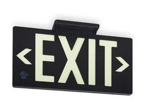 """Exit Sign, Value Brand, 3AFU4, 8-3/4""""Hx15-3/8""""W"""